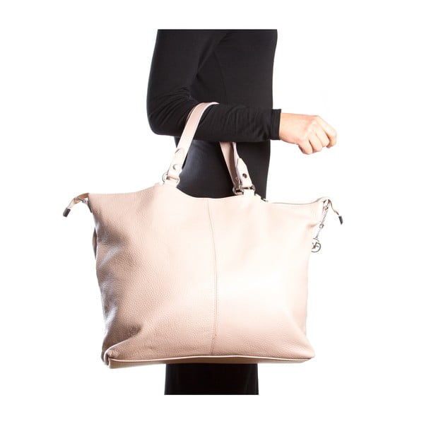Kožená kabelka Fiora, ružová