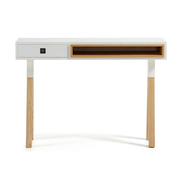 Biely konzolový stolík La Forma Stick