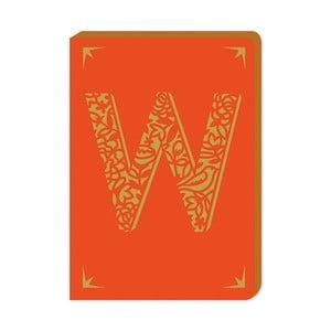 Linajkový zápisník A6 s monogramom Portico Designs W, 160stránok