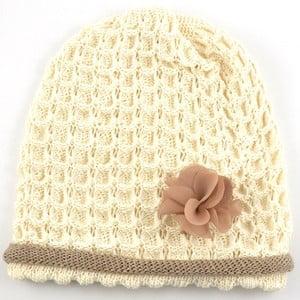 Dievčenská čapica Rulon, krémová