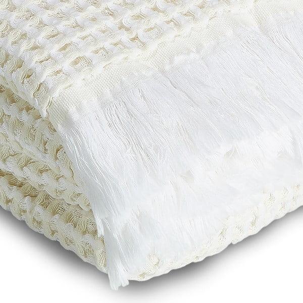 Osuška Whyte 100x160 cm, biela/béžová