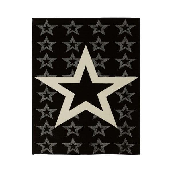 Detský čierny koberec Hanse Home Star, 140×200cm