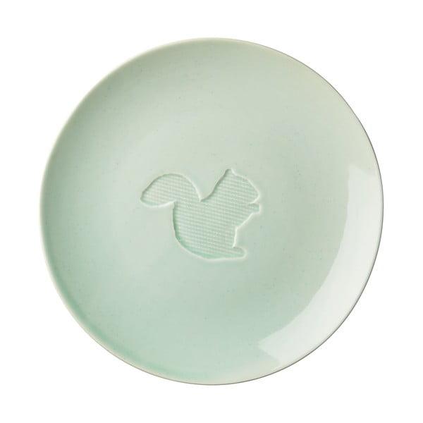 Keramický tanier Animal Pastel Green