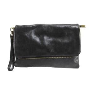 Čierna kožená peňaženka Chicca Borse Grena