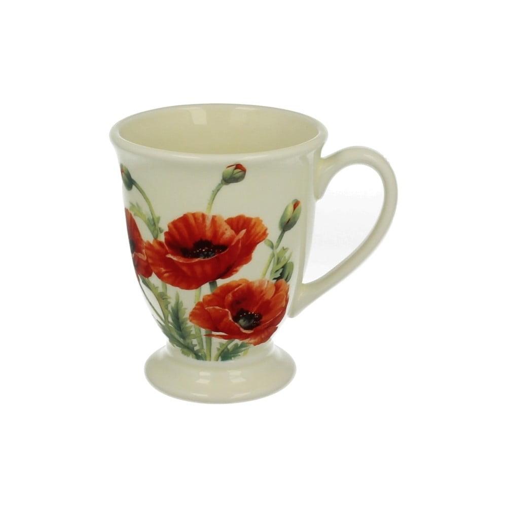 Hrnček z porcelánu s motívom kvetiny Duo Gift Maki, 550 ml