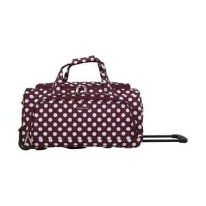 Fialová cestovný taška na kolieskách Travel World Raisa, 34 l