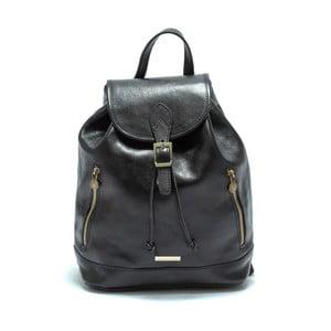 Čierny dámský kožený batoh Anna Luchini Carinna