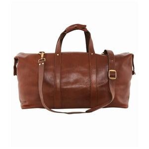 Cestovná kožená taška Cognac