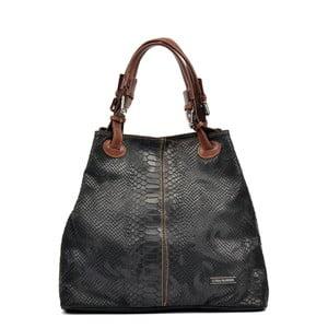 Čierna kožená kabelka Luisa Vannini Regina