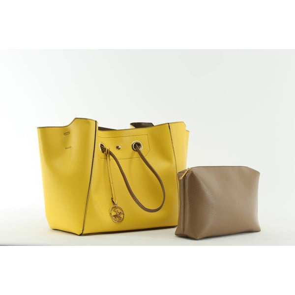 Kabelka Beverly Hills Polo Club 01 - Yellow/Mink