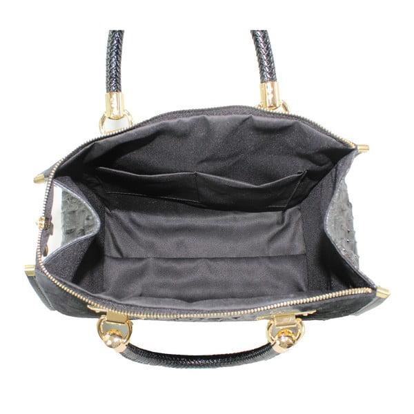 Čierna kožená kabelka Signora