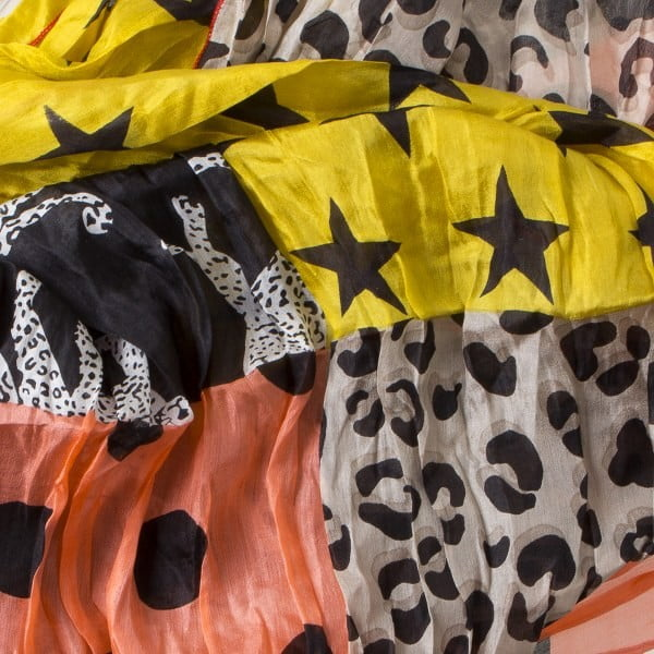 Šatka Dream Circus Yellow Stars