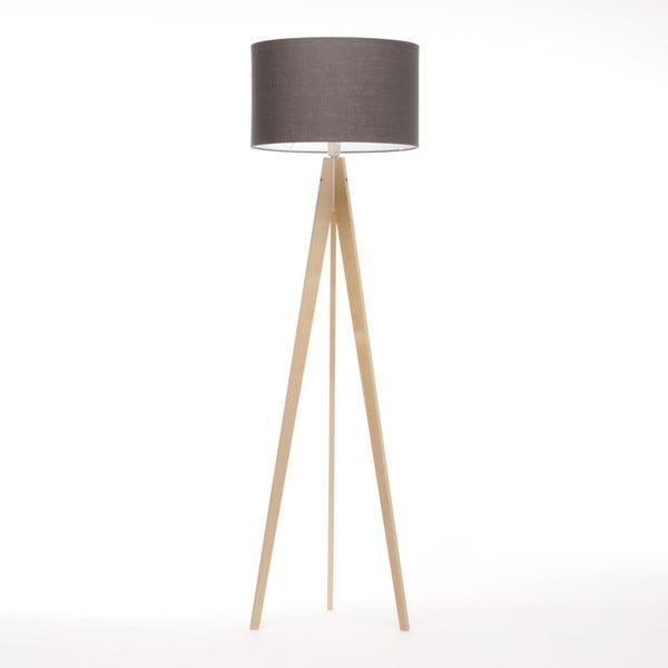 Hnedá stojacia lampa 4room Artist, prírodná breza, 150 cm