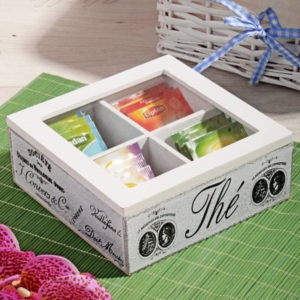 Bambusový box na čaj so 4 priehradkami Division