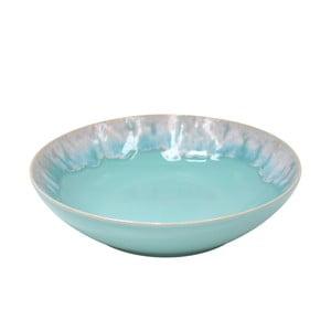 Tyrkysový hlboký tanier z kameniny Casafina Taormina, ⌀ 21 cm