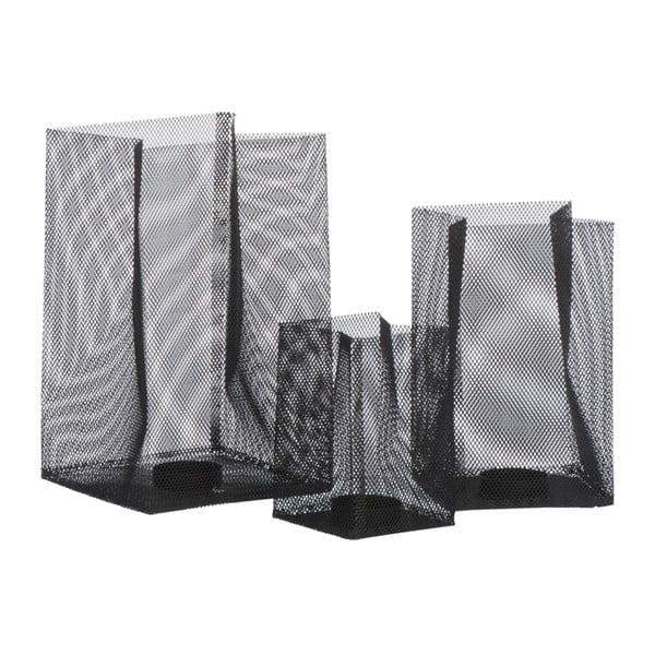 Svietnik Metal Black, 14x14x23 cm