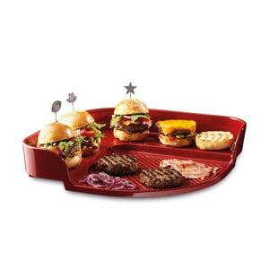 Tácka na burgery Emile Henry, červený