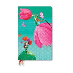 Diár na rok 2019 Paperblanks Joyous Springtime Horizontal, 13,5 x 21 cm