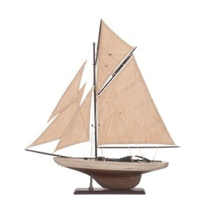 Dekoratívna plachetnica Sail Boat Beige, 55 cm
