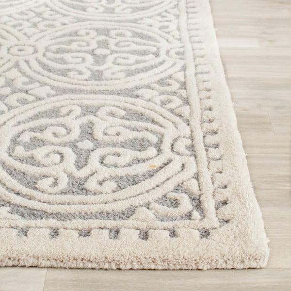 Vlnený koberec Marina Blue, 152x243 cm