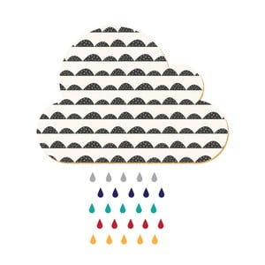 Dekoratívne samolepiace nástenka Dekornik White Cloud With Colorful Drops