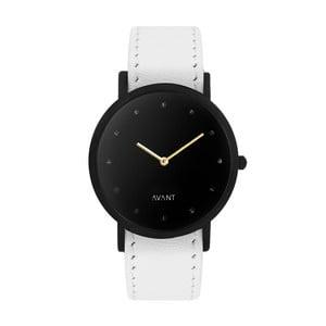 Čierne unisex hodinky s bielym remienkom South Lane Stockholm Avant Pure