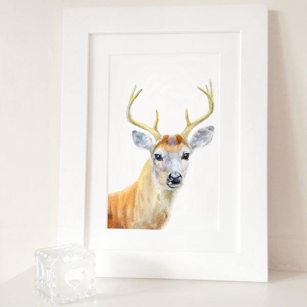 Plagát Deer Portrait A3