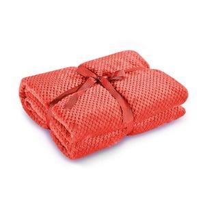 Červená deka z mikrovlákna DecoKing Henry, 170×210cm
