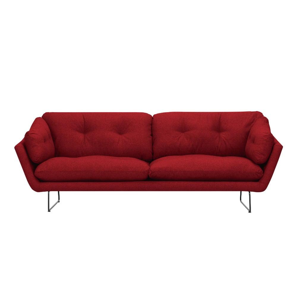 Červená trojmiestna pohovka Windsor & Co Sofas Comet