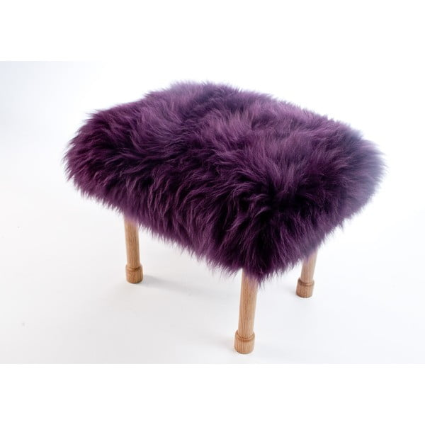 Stolička z ovčej kože Megan Aubergine