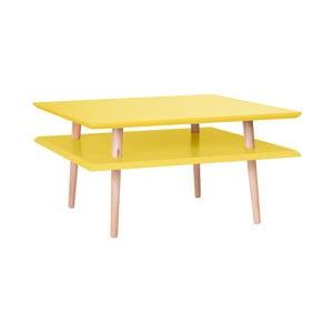 Žltý konferenčný stolík Ragaba Square, 68×68cm
