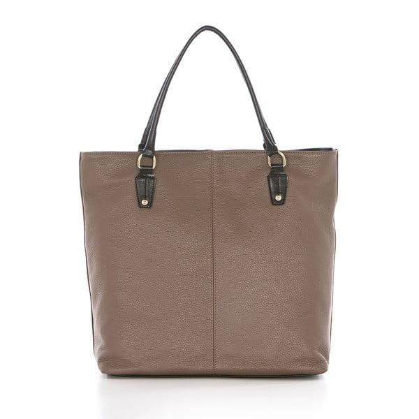Béžová kožená kabelka Federica Bassi Harmonia