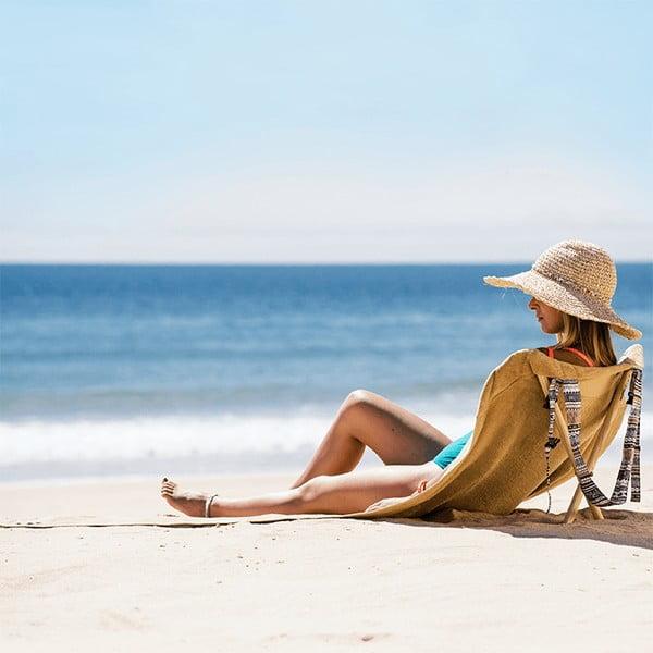 Skladacie plážové lehátko a osuška v jednom Sun Seat Sand Tribal