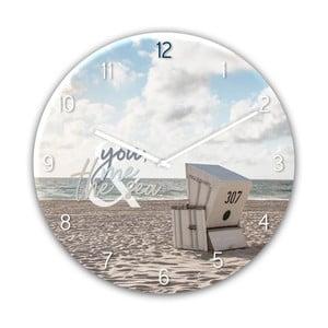 Sklenené nástenné hodiny Styler The Se