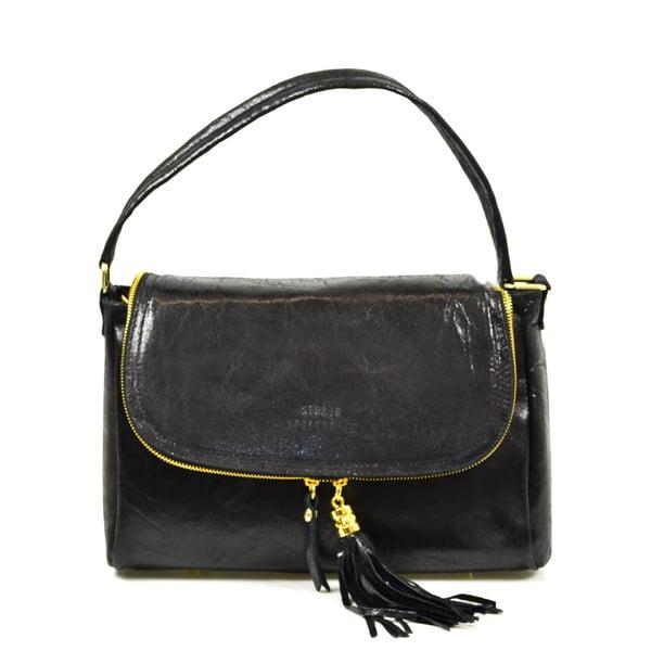 Kožená kabelka Eleonore, čierna