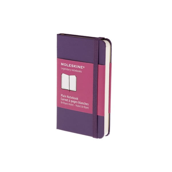 Zápisník Moleskine XS Purple, nelinkovaný