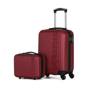 Sada 2 vínových cestovných kufrov na kolieskach VERTIGO Valises Cabine & Vanity Case