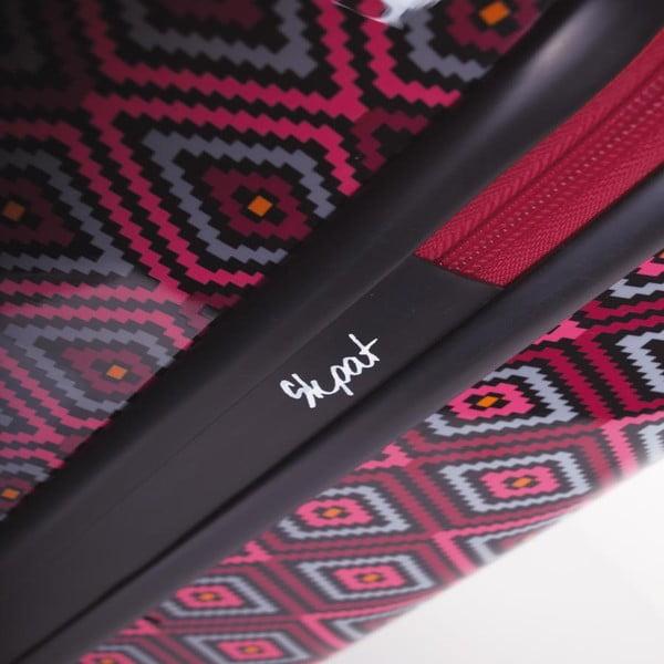 Čierno-ružový cestovný kufor SKPA-T