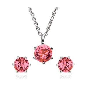 Sada náušníc a náhrdelníku Stone Pink