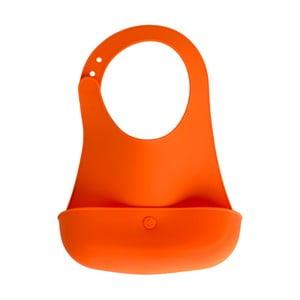 Oranžový silikónový podbradník pre deti Brandan Baby