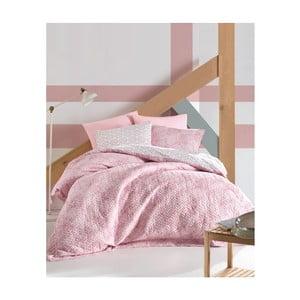 Set prikrývky, plachty a 2 obliečok na vankúše z ranforce bavlny Best Pink, 220 × 230 cm