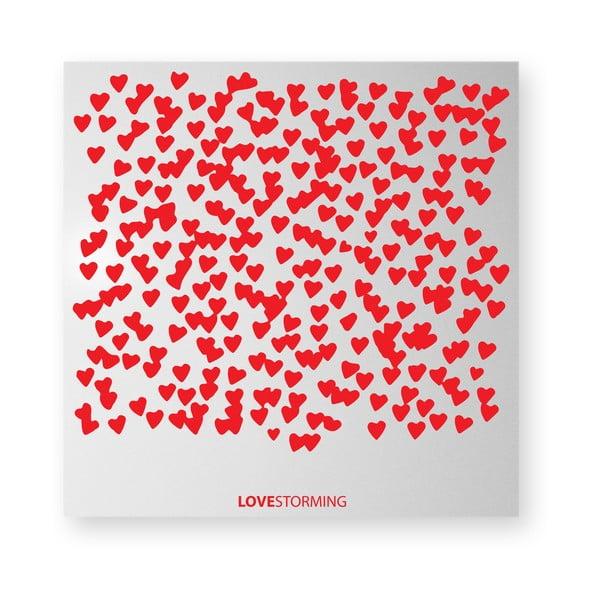 Magnetická tabuľa dESIGNoBJECT.it Lovestorming, 50 x 50 cm