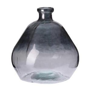 Skleněná váza Inart Silver