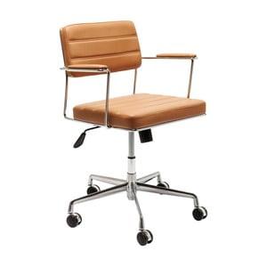 Svetlohnedá kancelárska stolička Kare Design Dottore