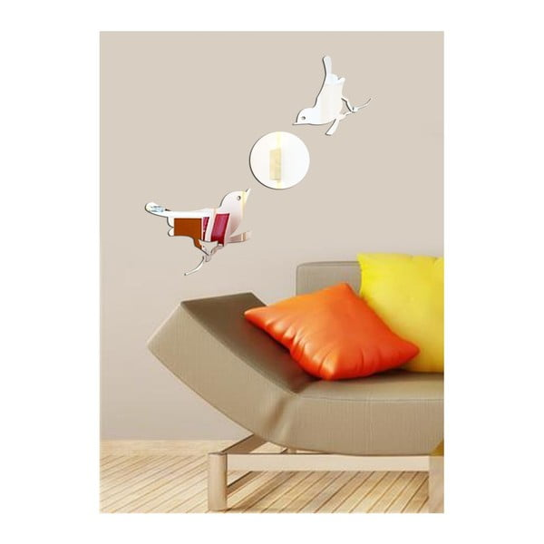 Dekoratívne zrkadlo Birds Moon