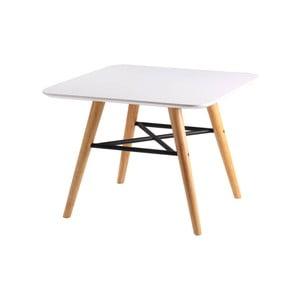 Biely odkladací stolík so svetlohnedým podnožím sømcasa Andy