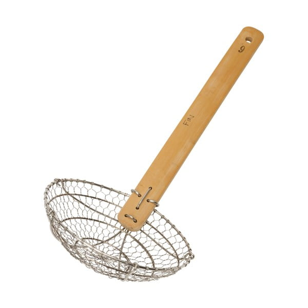 Naberačka do WOK panvice s bambusovou rukoväťou Dexam SOW Wok Strainer, dĺžka 38 cm