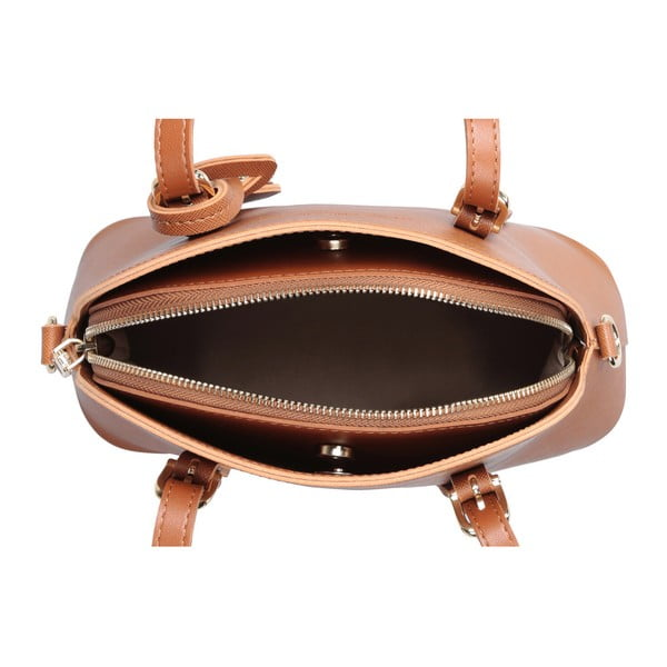 Hnedá kabelka z eko kože Beverly Hills Polo Club Dedra