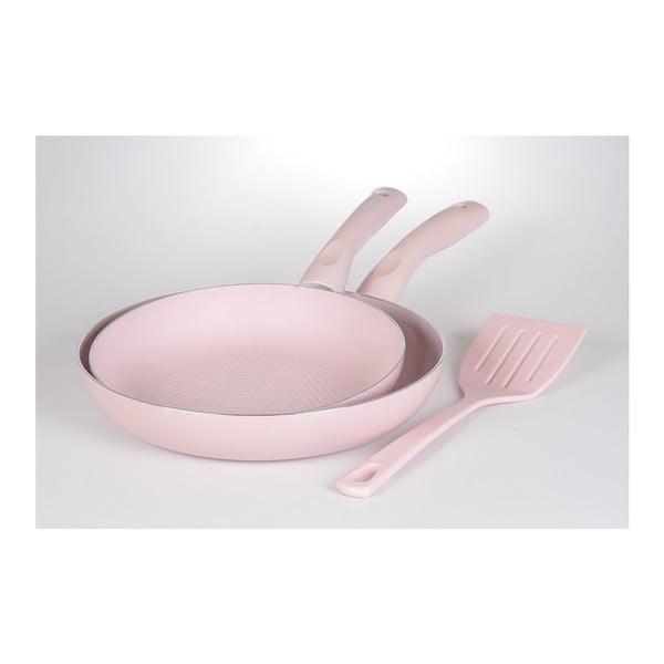 Set 2 panvíc a špachtle Pastel Pink