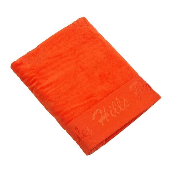 Oranžová bavlnená osuška BHPC Velvet, 80x150cm